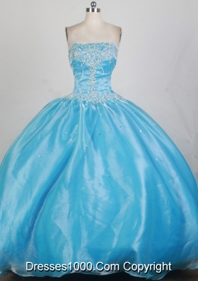 2012 Exquisite Ball Gown Strapless Floor-Length Quinceanera Dresses