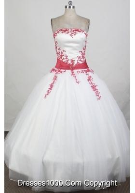 2012 Exquisite Ball Gown StraplessFloor-Length Quinceanera Dress