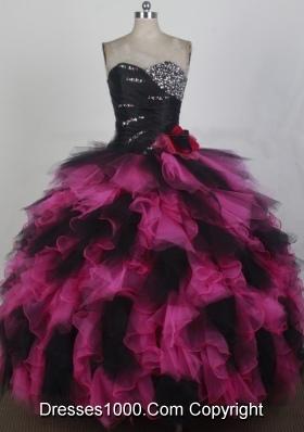 2012 Exquisite Ball Gown Sweetheart Neck Floor-Length Quinceanera Dresses