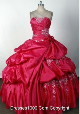 2012 Luxurious Ball Gown Strapless Floor-Length Quinceanera Dress