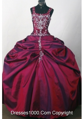 2012 Popular Ball Gown Strapless Floor-Length Quinceanera Dresses