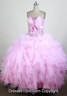 Gorgeous Ball Gown Strapless Floor-length Quinceanera Dress