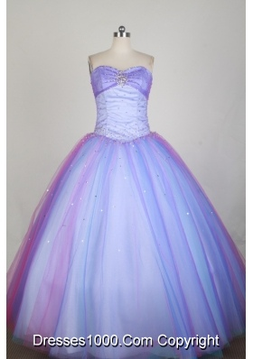 Popular Ball Gown Strapless Floor-length Lilac Quinceanera Dress