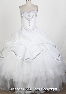 Popular Ball Gown Sweetheart Floor-length Quinceanera Dress