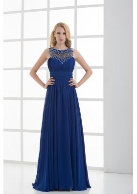 Empire Soop Beading Ruching Floor-length Chiffon Prom Dress