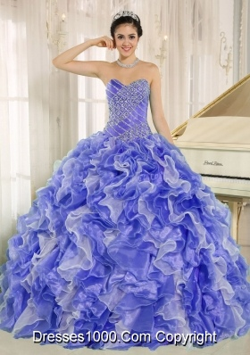 2013 Sweetheart Quinceanera Dress with Beading and Ruffles