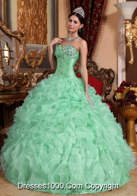 Beautiful Quinceanera Dress Ball Gown Sweetheart with Beading and Ruffles