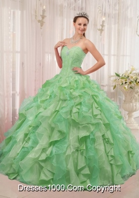 Multi-colored Ball Gown Sweetheart with Appliques and Pleats Quinceanera Dress