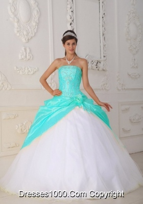 Blue And White Ball Gowns Baby Blue and White Ba...