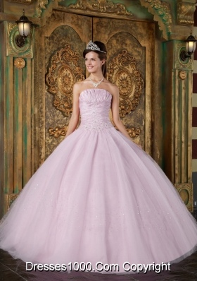New Style Strapless 2014 Spring Quinceanera Dress with Baby Pink