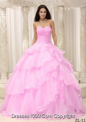 2014 Pretty Sweetheart Ruching Decorate Waist For Quinceanera Dresses