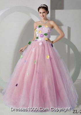 2014 Princess Strapless Appliques Quinceanera Dresses with Zipper-up