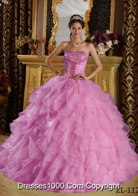 2014 The most Popular Lavender Embroidery Quinceanera Dress Ball Gown Strapless with Beading