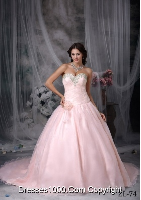 Appliques Fashionbale Sweetheart Princess Quinceanera Dresses with Hand Made Flowers