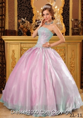 Beautiful Ball Gown Beading Quinceanera Dress Strapless with Appliques