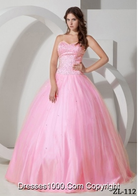 Cute Ball Gown Sweetheart Beading 2014 Sweet 16 Dresses