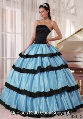 2017 Blue and Black Quinceanera Dresses