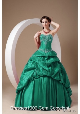 Princess Sweetheart Sweet 16 Dresses with Appliques and Pick-ups