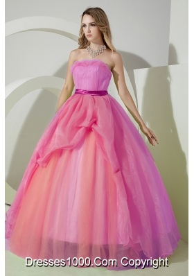 Simple Ball Gown Strapless Beading and Embroidery Dress For ...