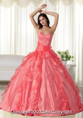 Sweet Sweetheart Ruffles Embroidery Dresses For a Quinceanera