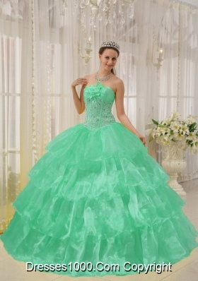 Turquoise Strapless Taffeta Sweet 16 Dresses with Layers and ...