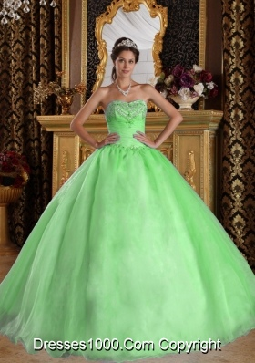 Princess Sweetheart Organza Sweet Sixteen Dresses with Beading