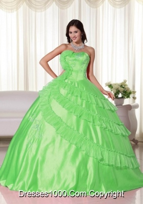 New Style Strapless Embroidery Quinceanera Dresses with Layers