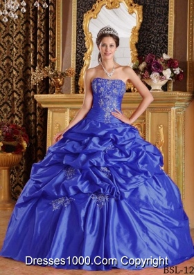 2014 Affordable Puffy Quinceanera Dresses with Pick-ups