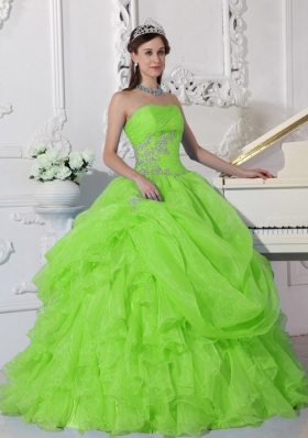 Beautiful Ball Gown Strapless Beading 2014 Quinceanera Dresses