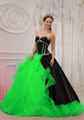Beautiful Puffy Sweetheart Appliques Quinceanera Dresses for 2014