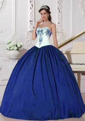 Cheap Puffy Sweetheart 2014 Embroidery Quinceanera Gowns