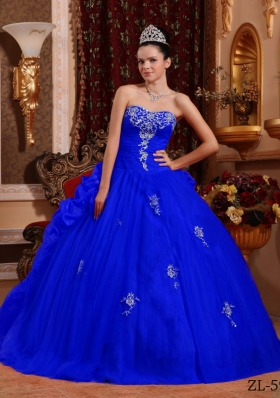 Cute Sweetheart Appliques Quinceanera Dresses with Beading