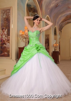 New Style A-Line Sweetheart Beading Long Quinceanera Dresses