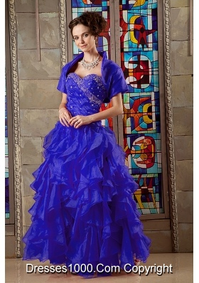 Beautiful Princess Sweetheart Beading Quinceanea Dress 2014