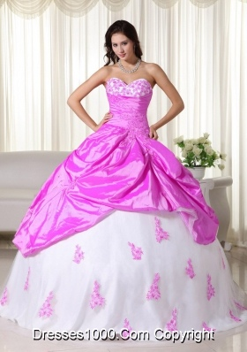 Elegant Sweetheart Quinceanera Gown Dresses with Appliques