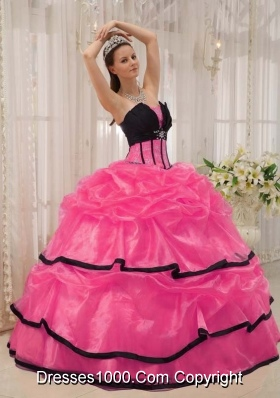 New Style Strapless Organza Quinceanera Gown Dresses with Beading