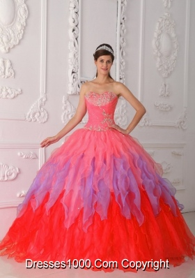Puffy Sweetheart Beading and Ruching Quinceanera Dresses for 2014
