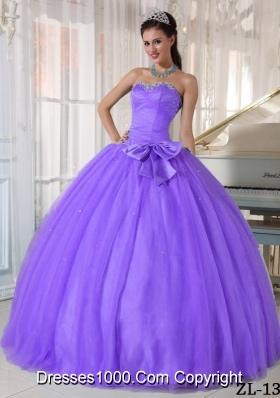 Sweetheart Quinceanera Gown Dresses with Beading and Bowknot