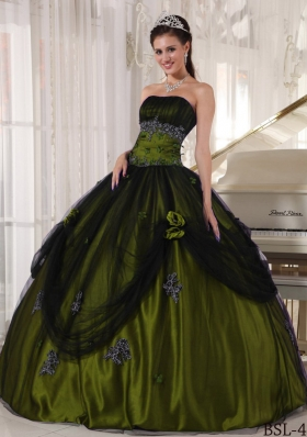 Discount Puffy Strapless Sweet Sixteen Dresses with Beading