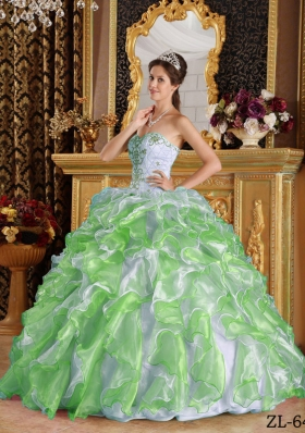 Puffy Sweetheart Appliques 2014 Quinceanera Gown for 2014