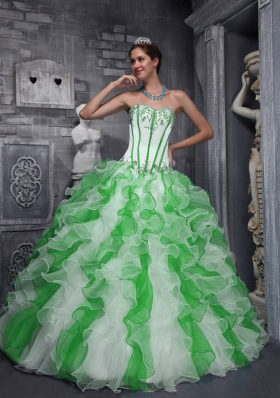 2014 Sweet Puffy Sweetheart Colorful Quinceanera Dresses with Appliques