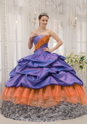 Exclusive Beading Quinceanera Dress Pick-ups Puffy Strapless