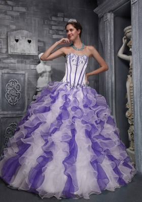 Sweet Puffy Sweetheart Taffeta and Organza Appliques 2014 Quinceanera Dresses