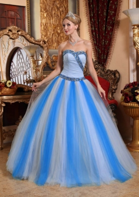 2014 Beautiful Multi-color Puffy Sweetheart Beading Quinceanera Dresses