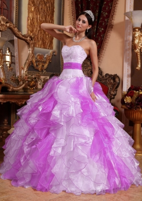 2014 Puffy Sweetheart Beading and Ruching Quinceanera Dresses