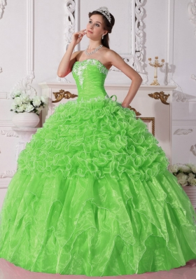 Gorgeous Ball Gown Strapless Embroidery and Beading Quinceanera Dress for 2014