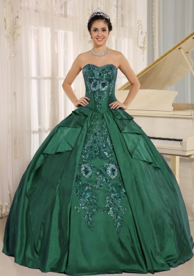 Lovely Green Embroidery Quinceanera Dress with Sweetheart In 2014