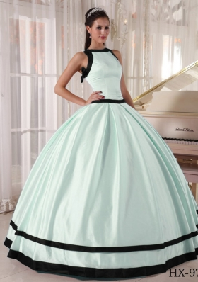Pretty Colourful Ball Gown Bateau Long Quinceanera Dresses with Bow