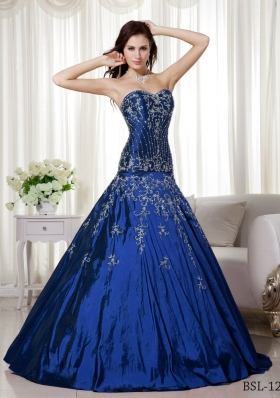 Princess Sweetheart Beading and Embroidery Morden Quinceanera Dresses