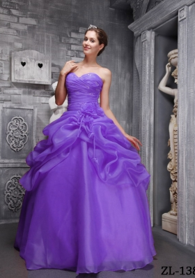 Cute Puffy Sweethrart 2014 Beading and Ruching Quinceanera Dresses